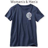 フェリシモ イラストレーターの山内庸資(やまうちようすけ)さんとつくった コミュニケーションTシャツ〈オトナ〉 (ネイビー)