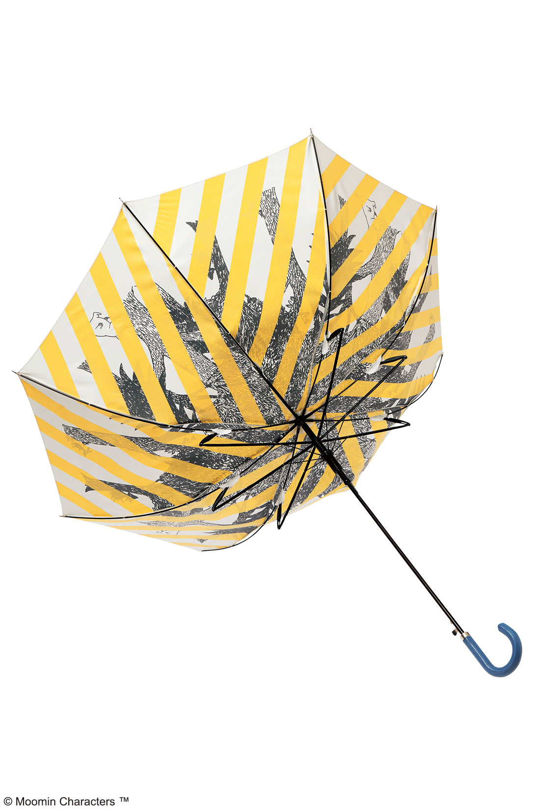 突風が吹いて傘がひっくり返っても、そのまま閉じれば元通りになります。