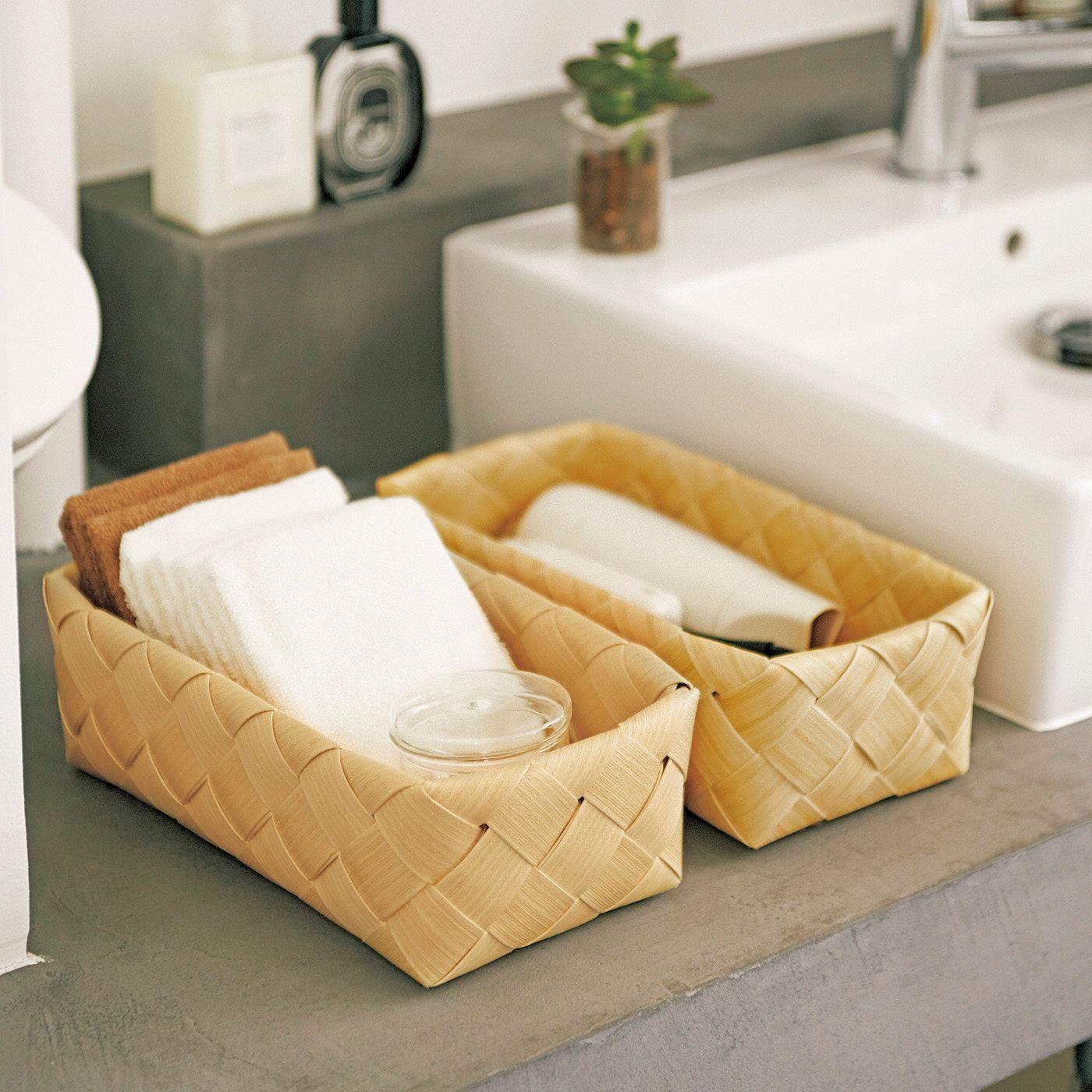 洗面所などの水まわりでも活躍。ささくれができないのでタオルも引っ掛かりません。