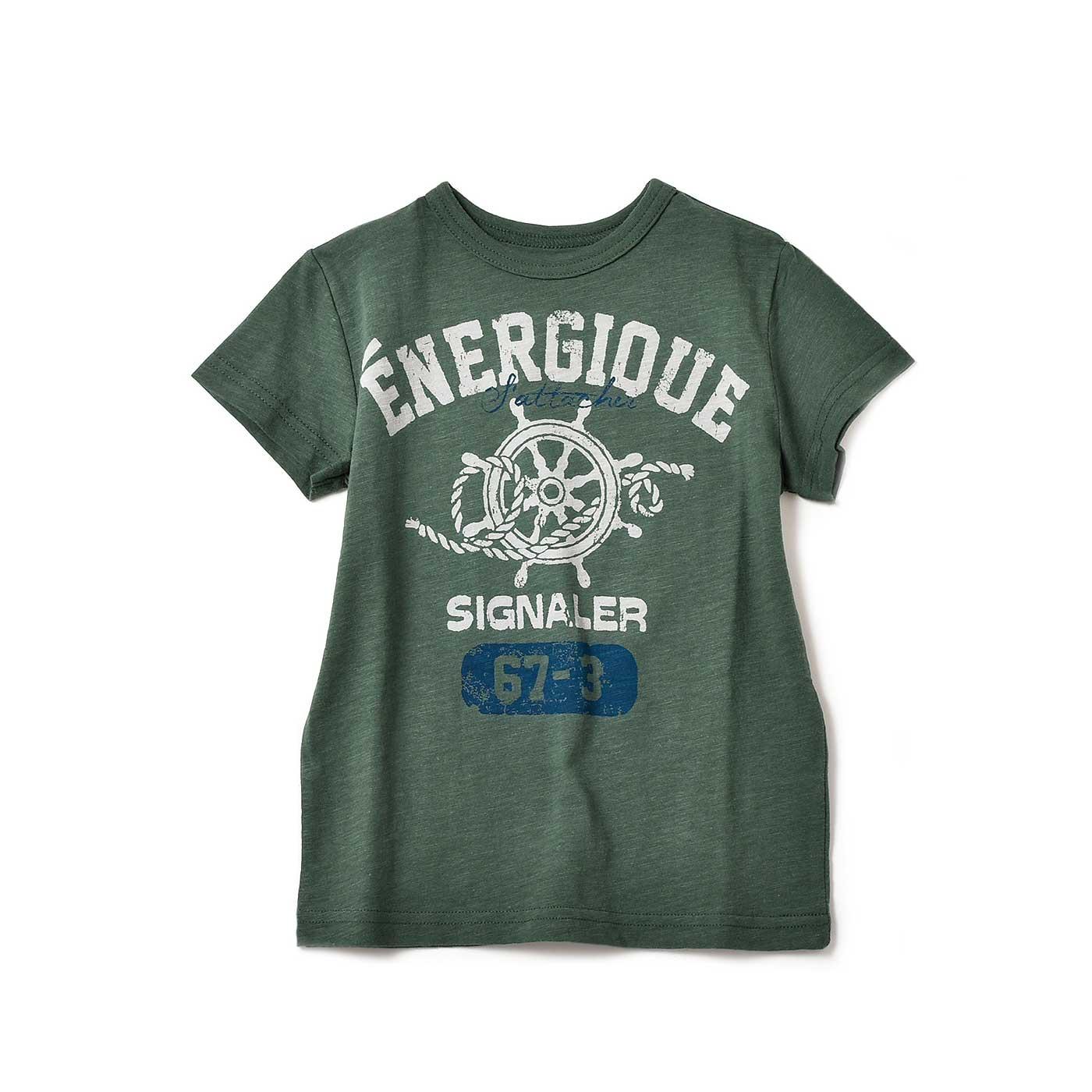 毎日着たくなる タフな顔のくったりロゴTシャツ〈キッズ〉〈29〉