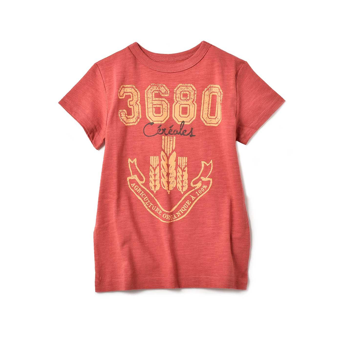 毎日着たくなる タフな顔のくったりロゴTシャツ〈キッズ〉〈39〉