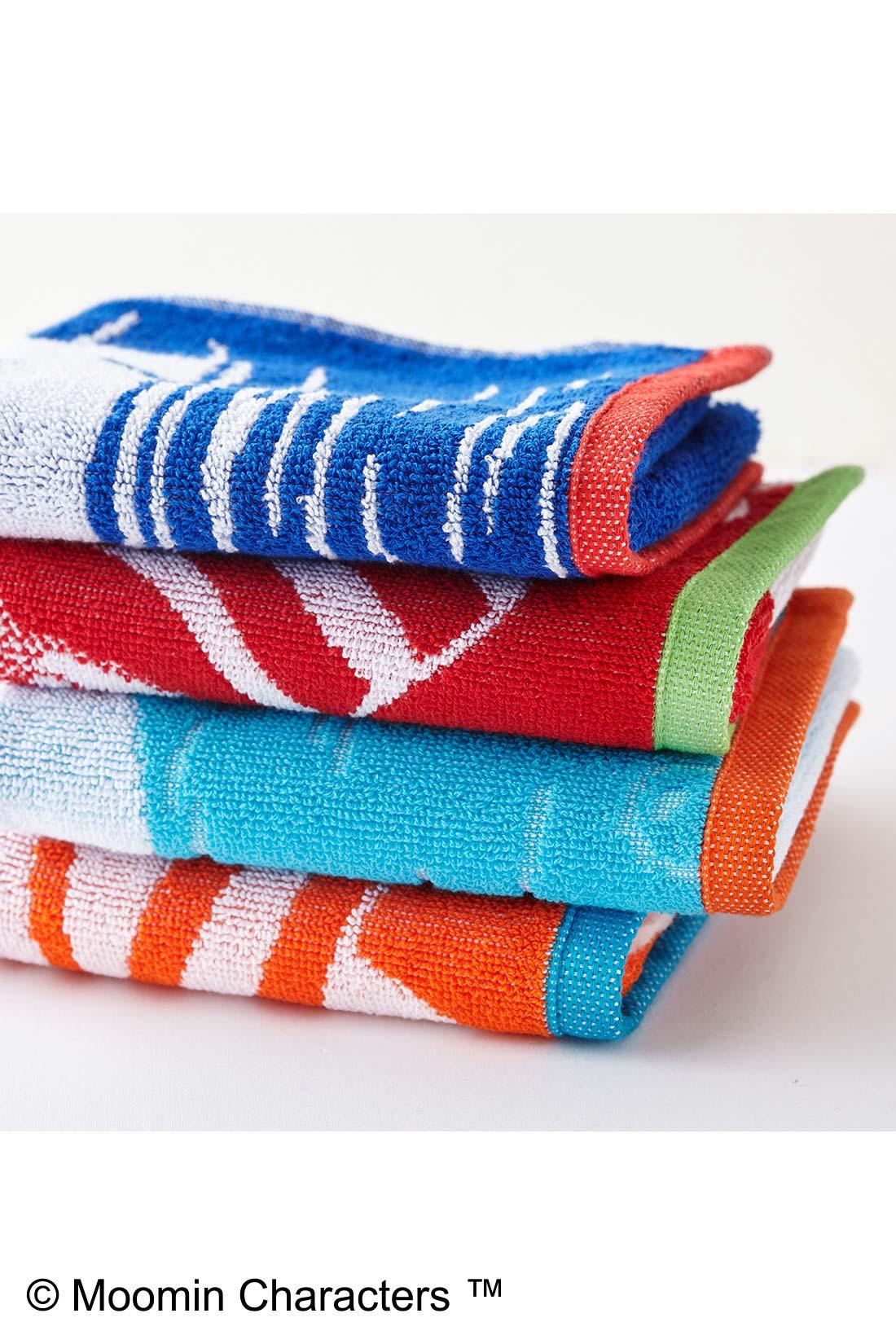 厚みがあって肌ざわりのよいタオルは、フェイスタオルやスポーツタオルとして大活躍。