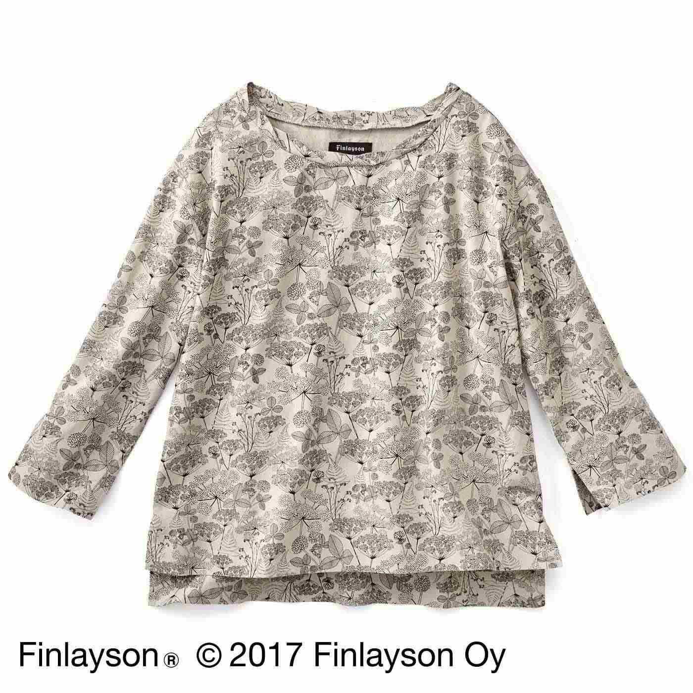 Finlayson フィンレイソン オトナカラーの麻混トップス〈ニッティポルク〉