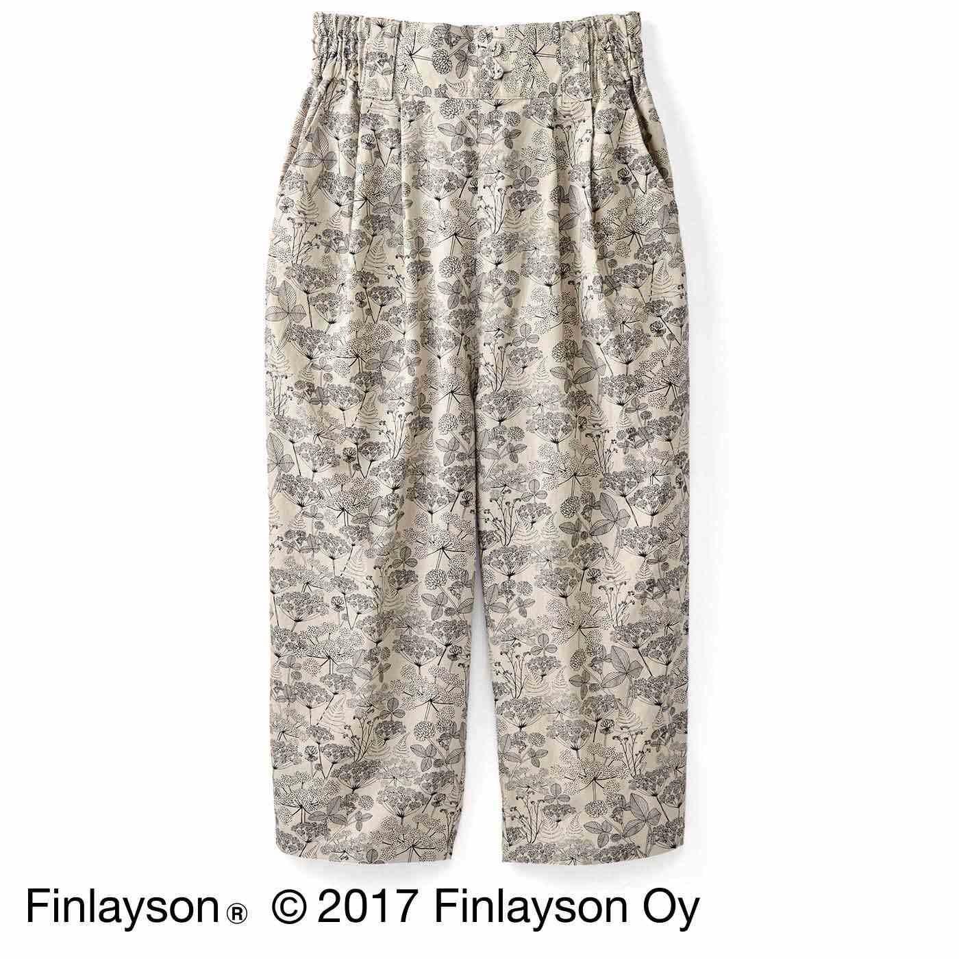 Finlayson フィンレイソン オトナカラーの麻混アンクルパンツ〈ニッティポルク〉