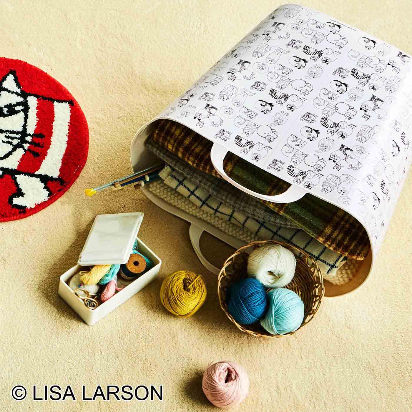 リサ・ラーソン 収納にもお洗濯にも使える 洗えるお片づけバケットの会