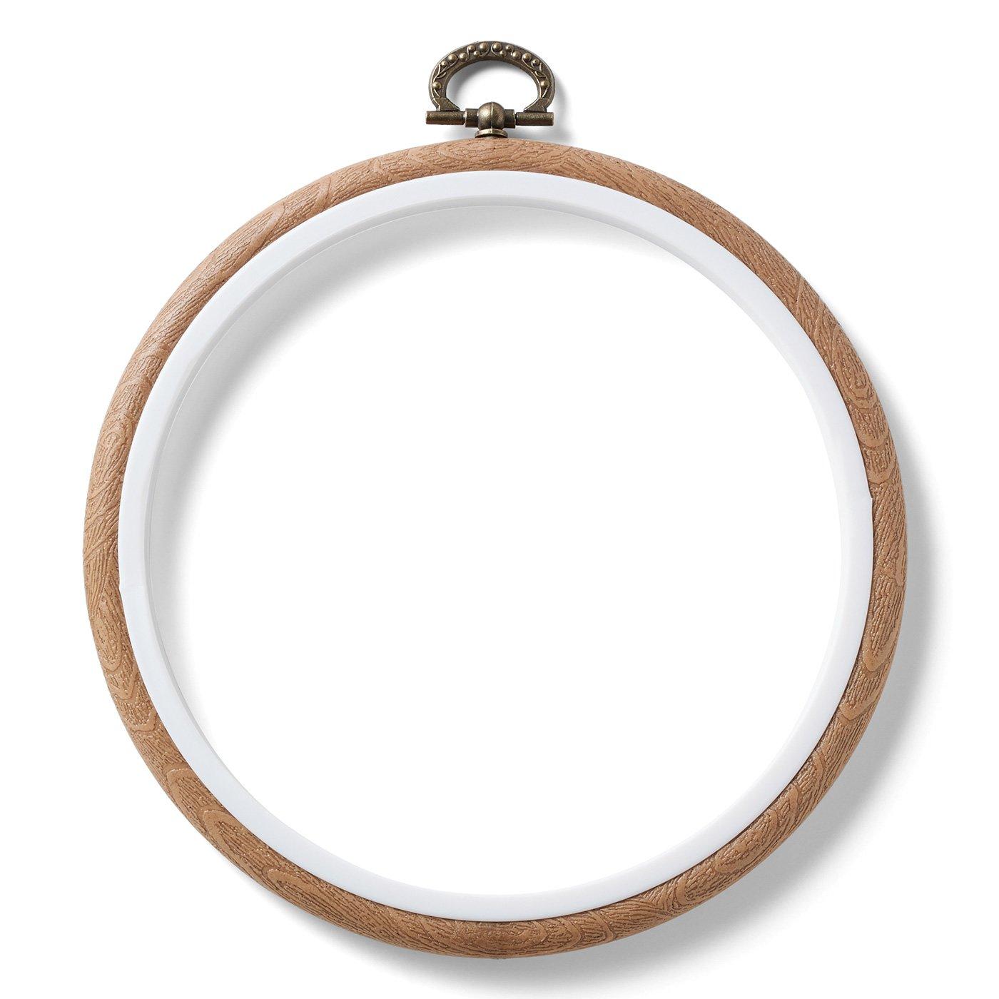 作品が映える木目調のフレーム〈円形〉
