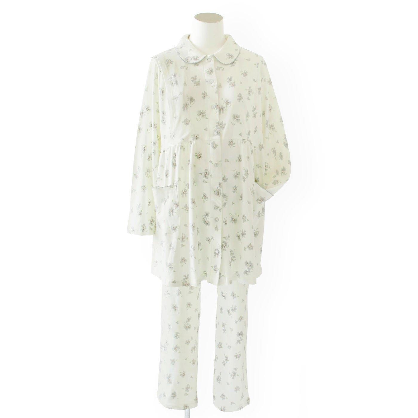 マタニティ・産後使える スムース素材で着心地やわらかな花柄パジャマ