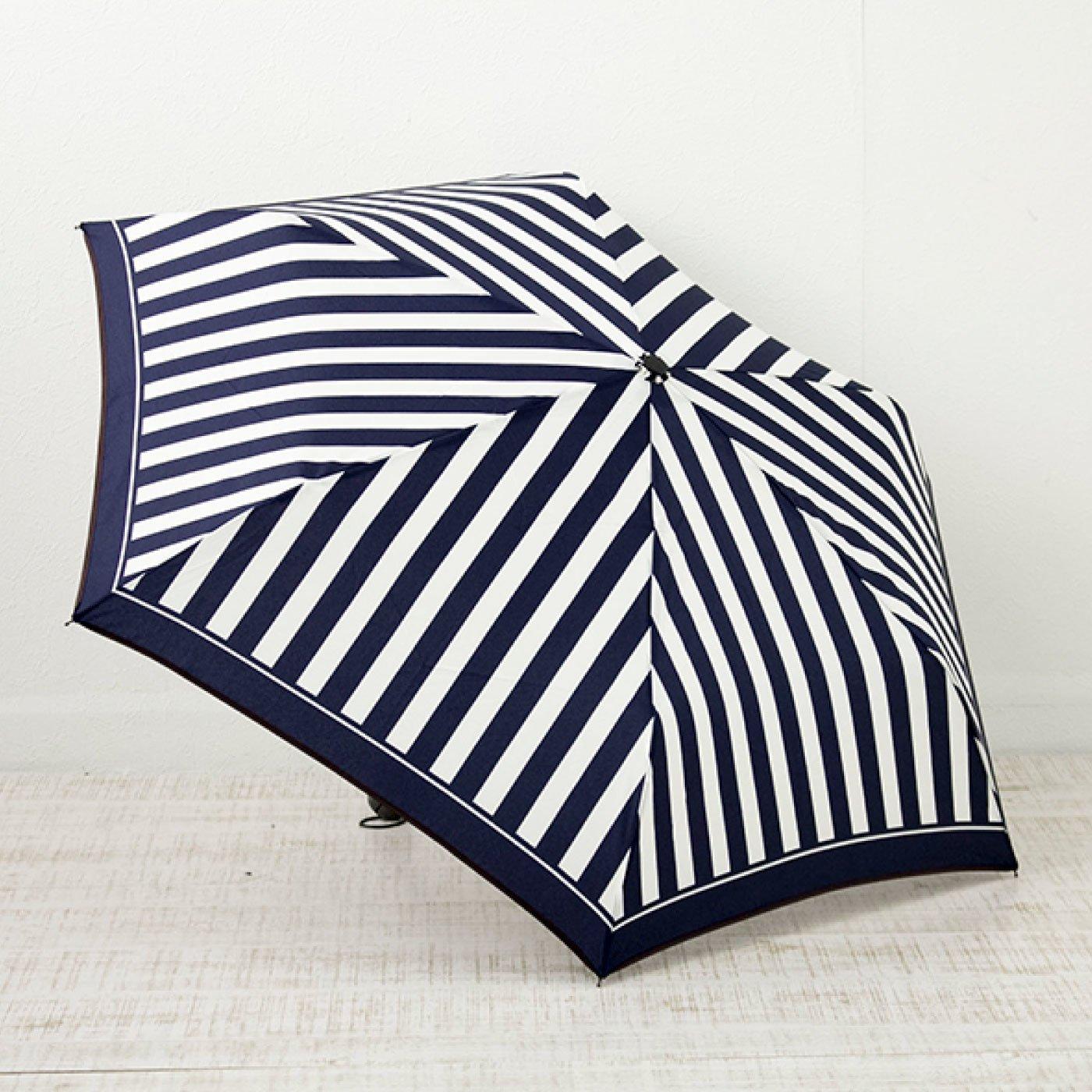 きれいめカラーが新鮮 ストライプ折りたたみ雨傘