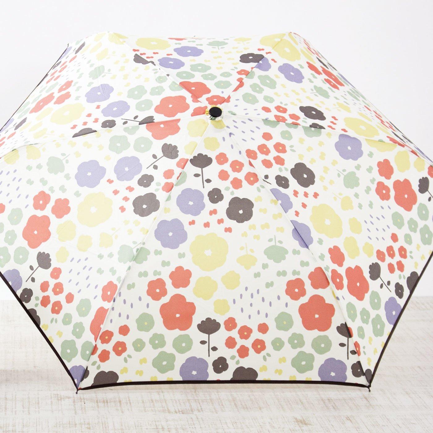 雨の日をパッと華やかに 花柄 折りたたみ雨傘