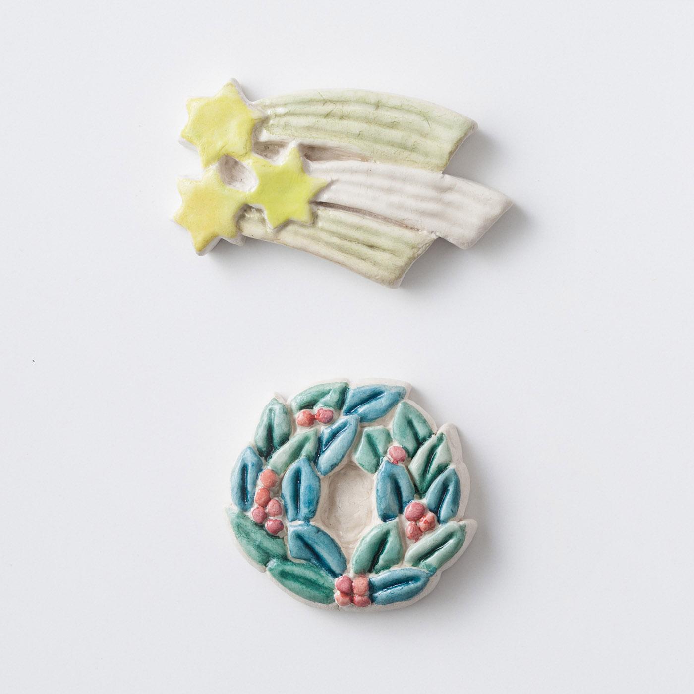 願いごと 本番用のブローチは毎回2個ずつ作れます(ブローチピン付き)。