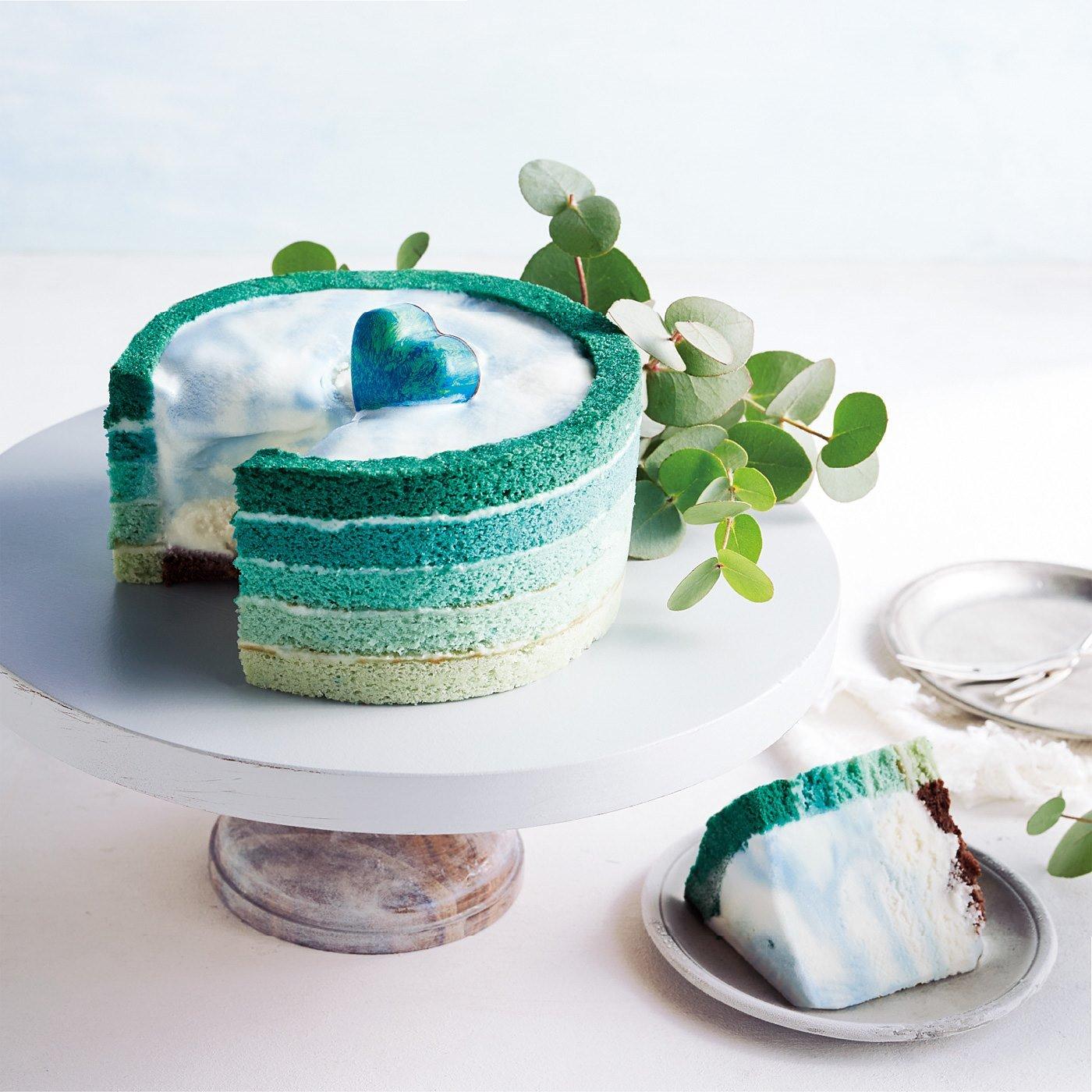 【8月便】スロベニア ベリシュカの青の泉のアイスケーキ