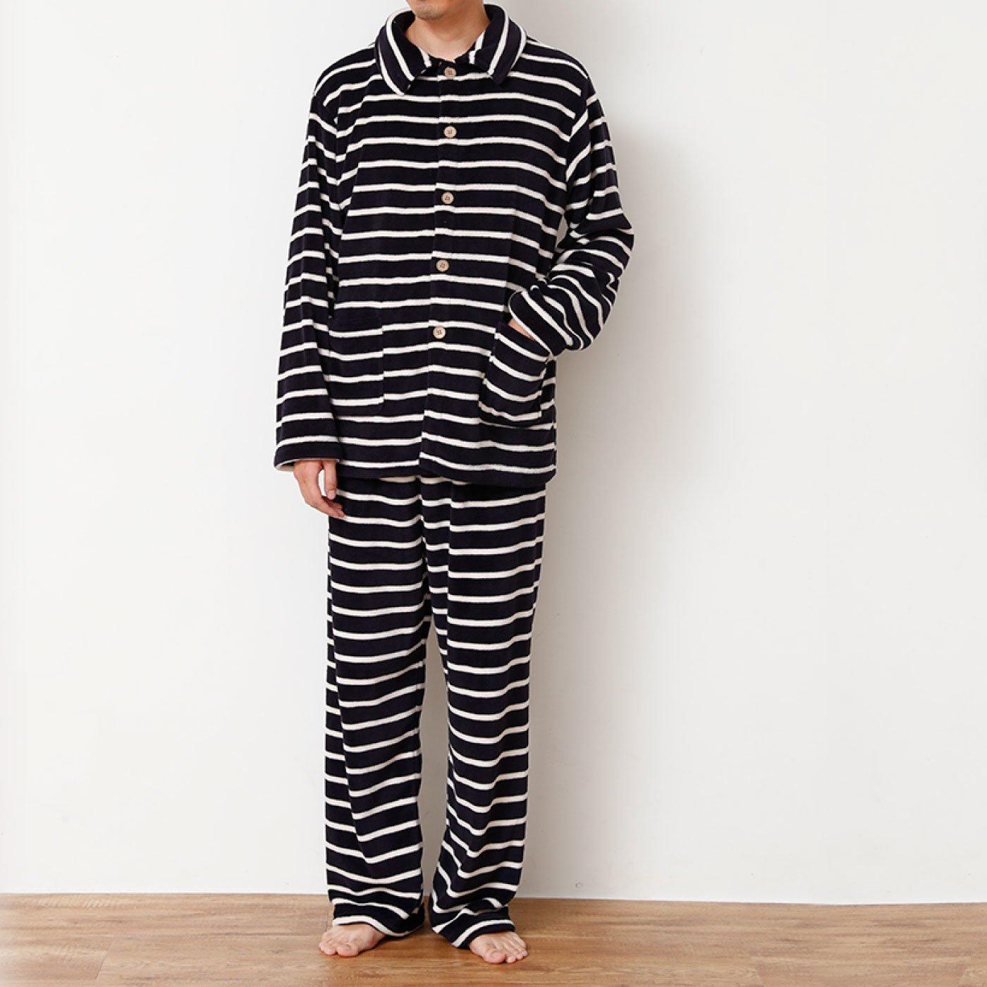 ふんわりあったかシャツパジャマ<メンズ>