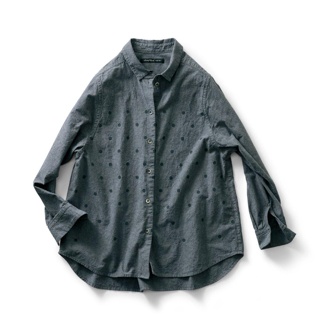 サニークラウズ  水玉模様のマイボーイフレンドシャツ