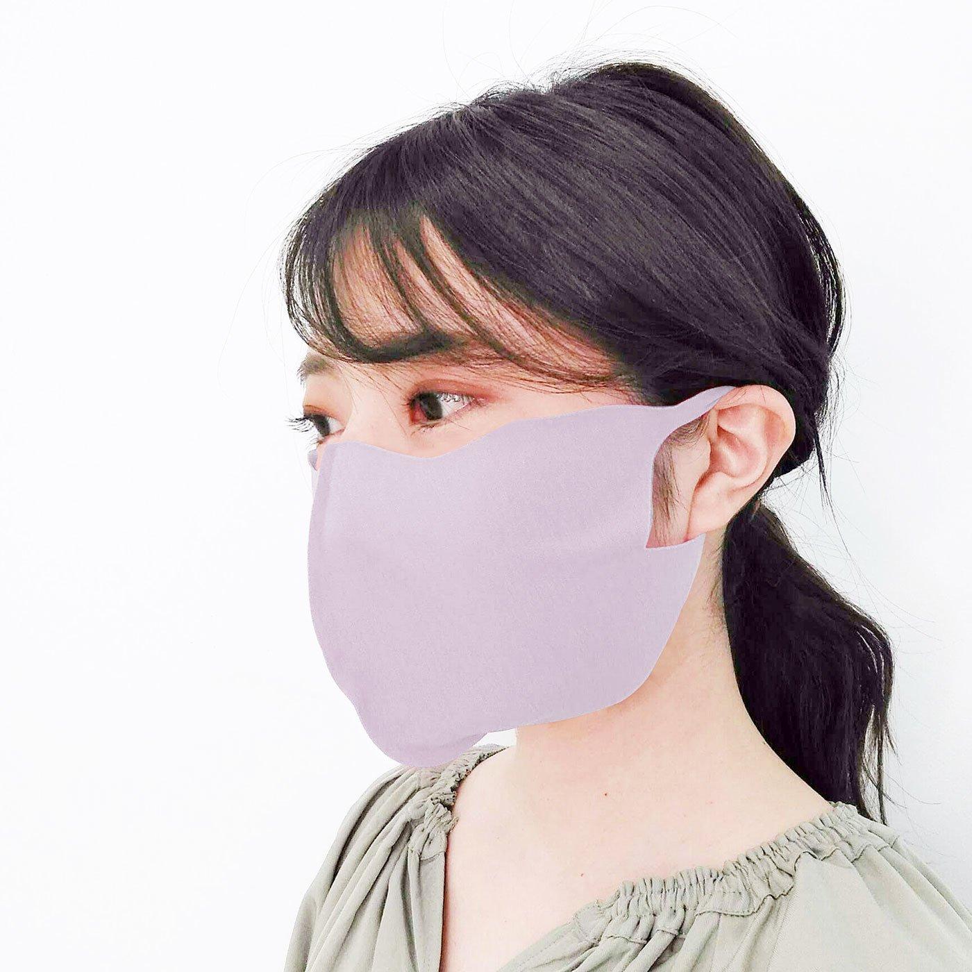 マスクストレス軽減! 縫い目なしのびのびさらり綿混布マスク