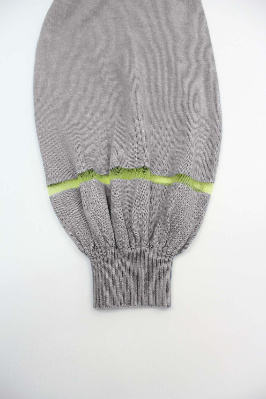 袖のラインだけ透けているの。