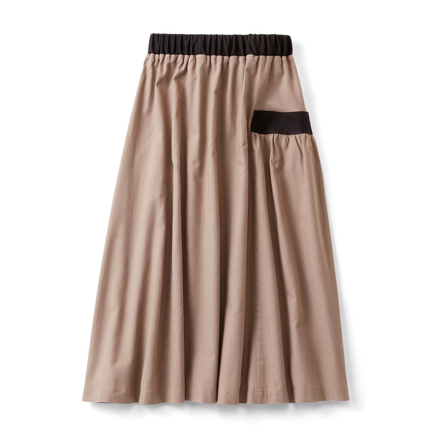 配色ラインがハンサムなギャザースカート