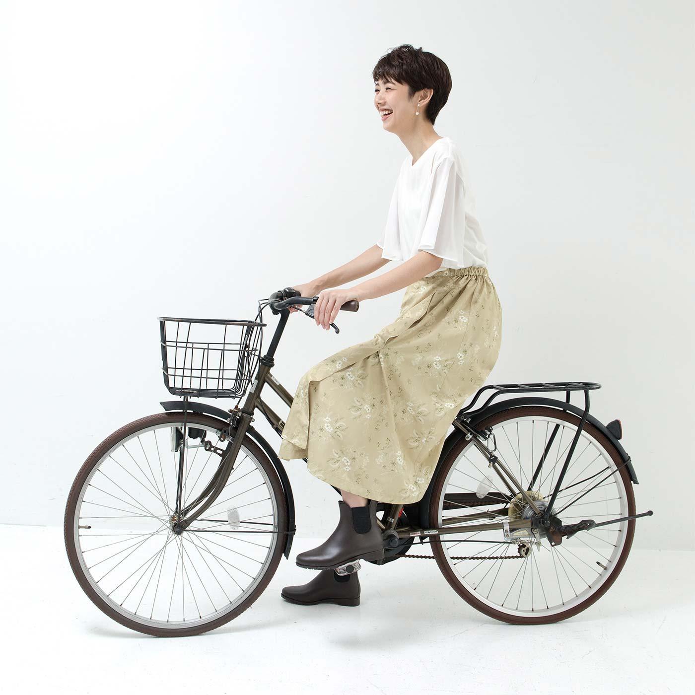 ボトムスぬれが気になる自転車にもおすすめ。
