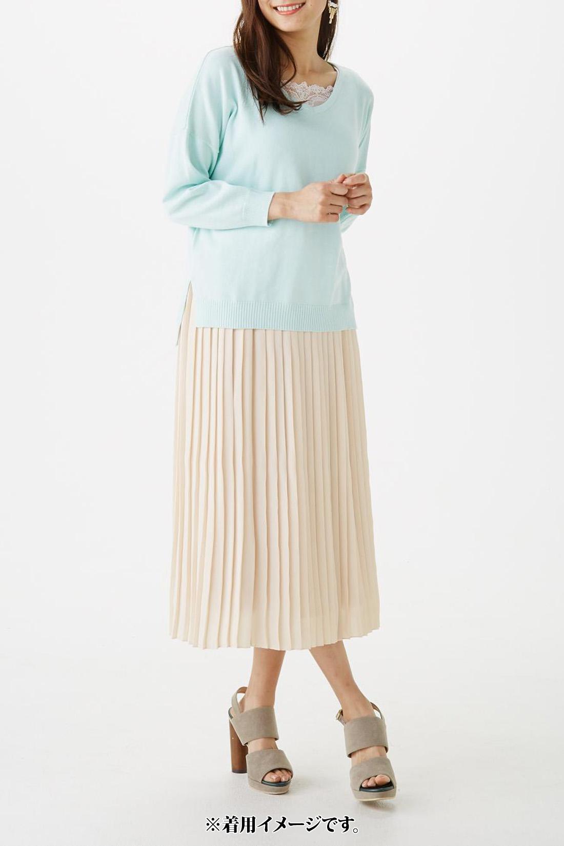 【スカートのみ着用】モデル身長:165cm 着用サイズ:M
