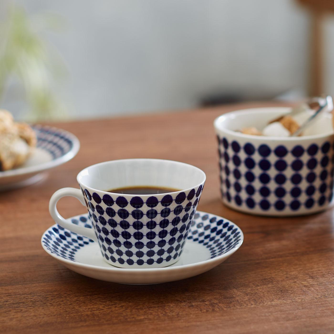 スティグ・リンドベリ 磁器のコーヒーカップ&ソーサー〈アダム〉