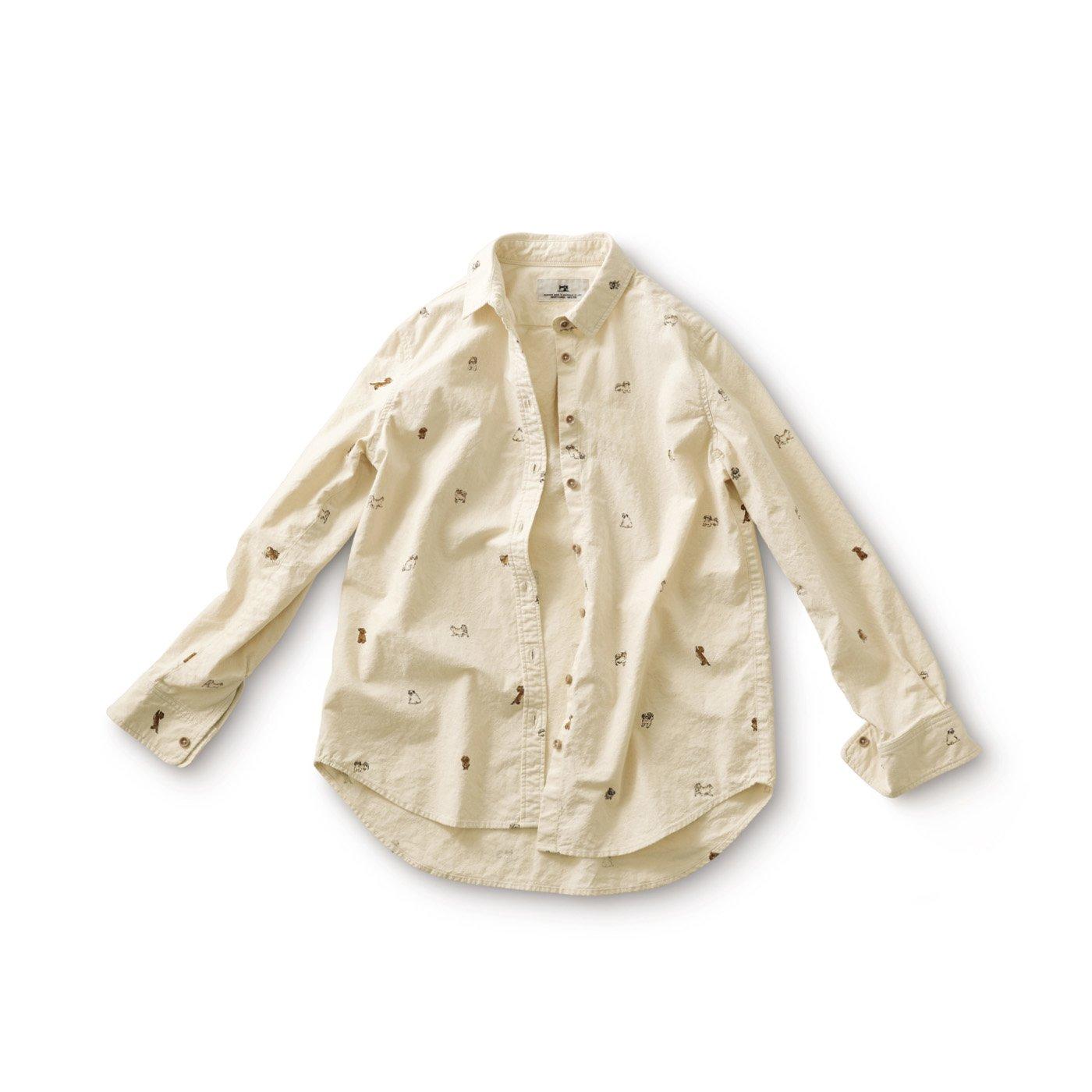 サニークラウズ 小型犬が好きシャツ〈レディース〉