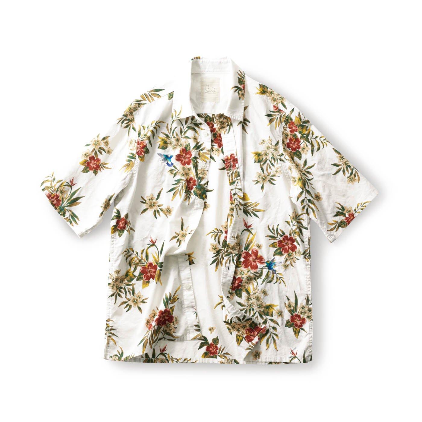 サニークラウズ はちどりアロハシャツ〈メンズ〉