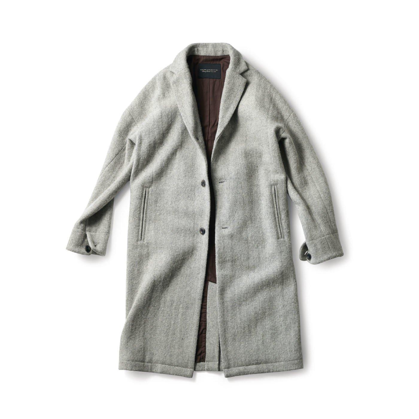 SUNNY CLOUDS  グレーツイードのチェスターコート〈メンズ〉