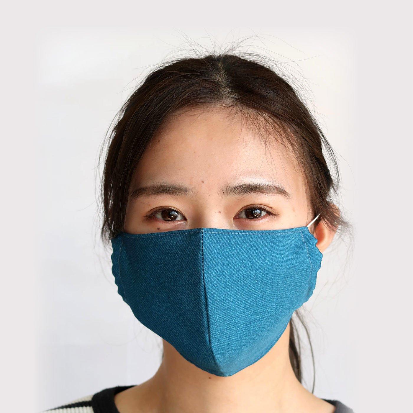 超はっ水素材でサラサラさらり布製マスク