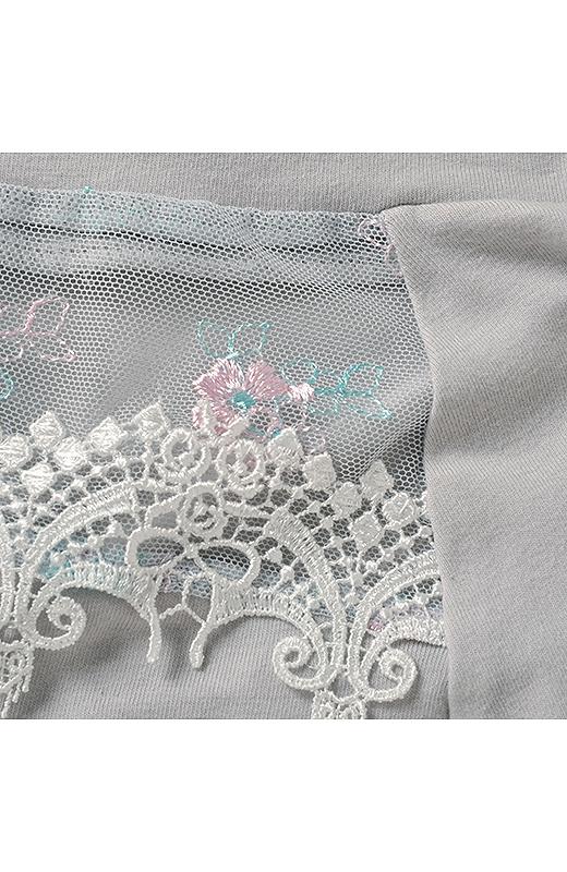 ショーツの身生地は綿混素材。