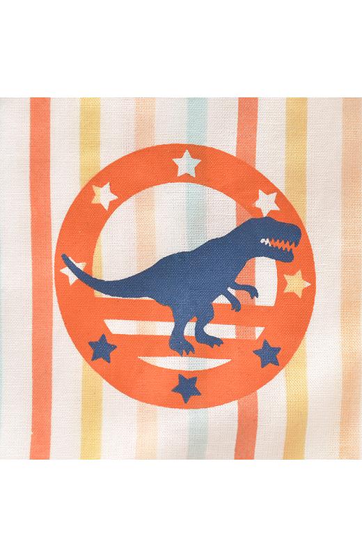 すっきり着られるシャツタイプ。胸に恐竜モチーフのアクセント。