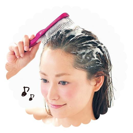 トリートメント剤を浸透させたり、頭皮のマッサージ、ブローブラシにも。いろいろ使えて便利。