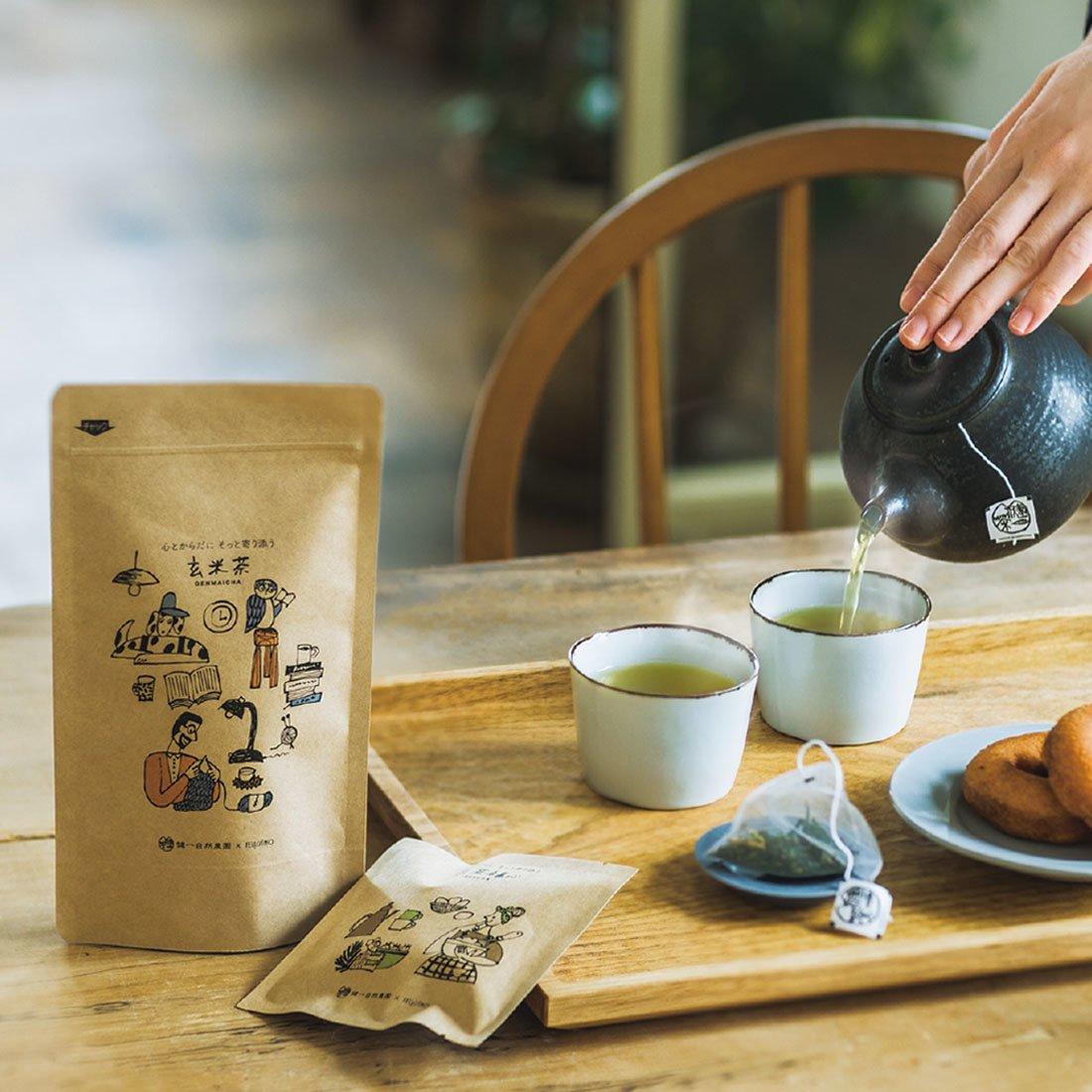 健一自然農園×フェリシモ 心とからだにそっと寄り添う お茶セット(ティーバッグ)の会