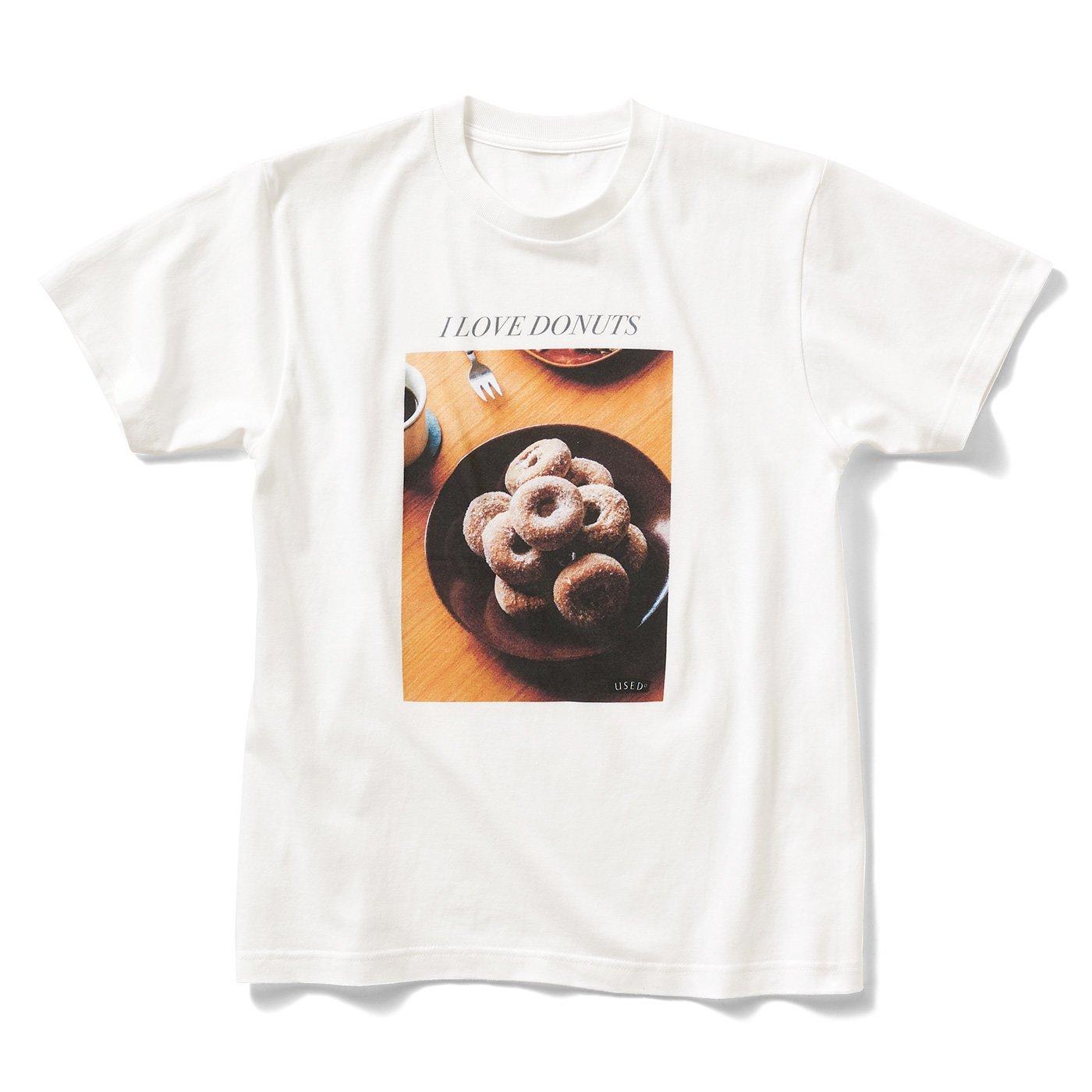 喫茶店のフォトTシャツ〈DONUTS〉