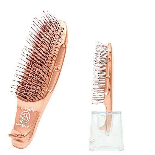 つやめく髪に導く頭皮ケアができるヘッドスパ気分のシャイニースカルプブラシ