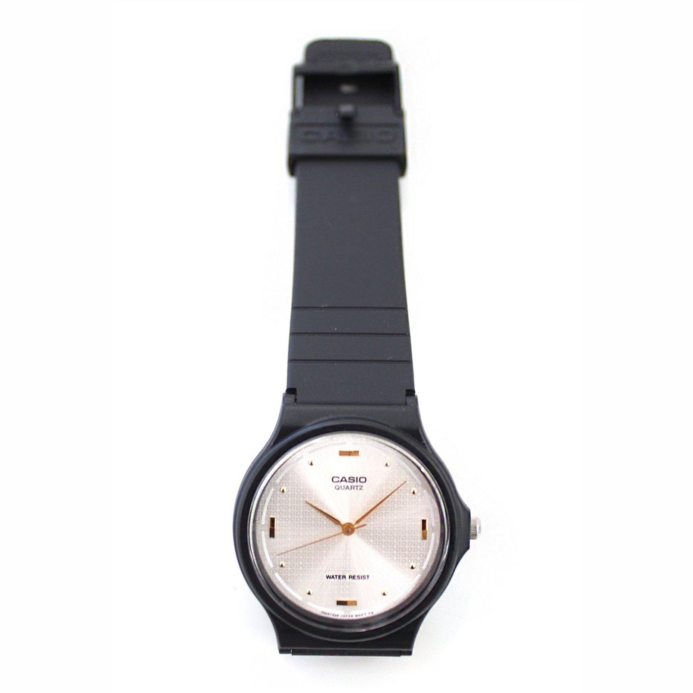 IEDIT[イディット] SELECT CASIO アナログ腕時計 ラウンド MQ-76-7A1〈ブラック×シルバー〉