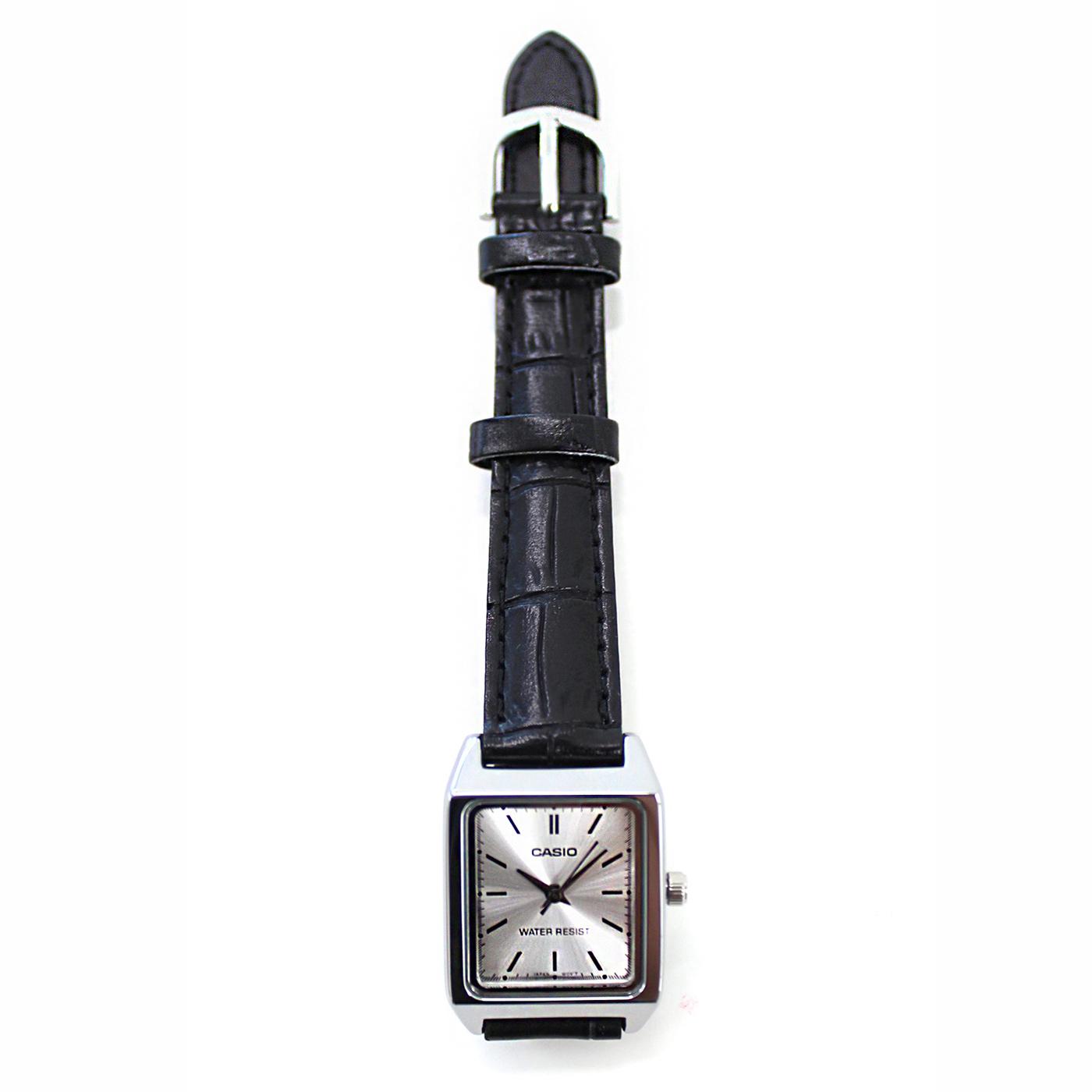 IEDIT[イディット] SELECT CASIO 腕時計レザー スクエアLTP-V007L-7E1〈ブラック〉