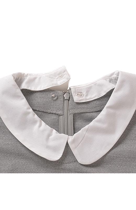 衿はボタンで着け外し可能。