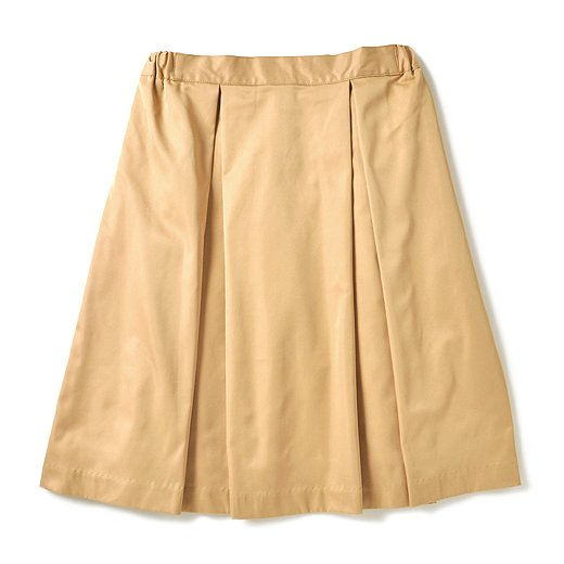 GOOD DAYS with GOOD CLOTHES  ボリュームシルエットのボックスプリーツスカート(ベージュ)