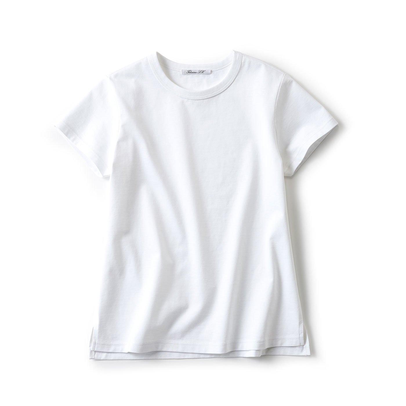 LX 大人女性の今が輝く 理想のTシャツ(ホワイト)