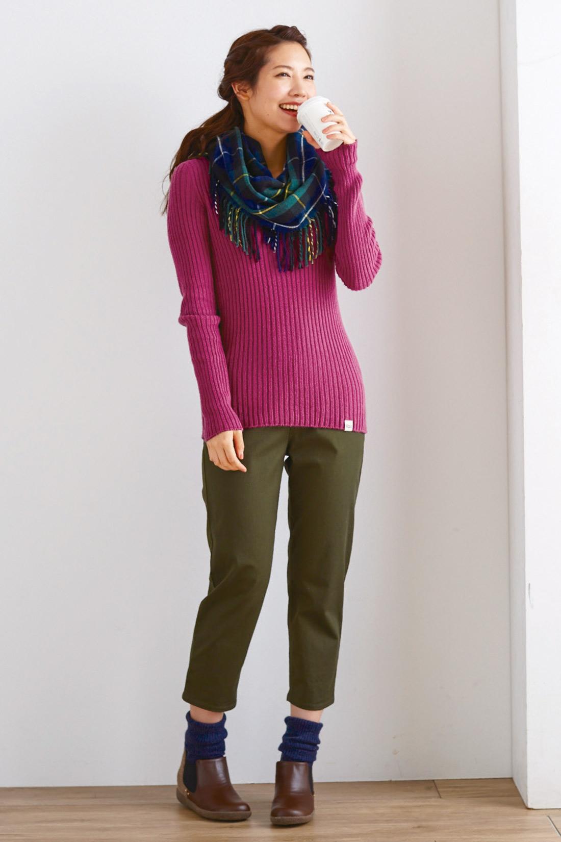 合わせやすい丈感もこだわりました。 ※着用イメージです。お届けするカラーとは異なります。