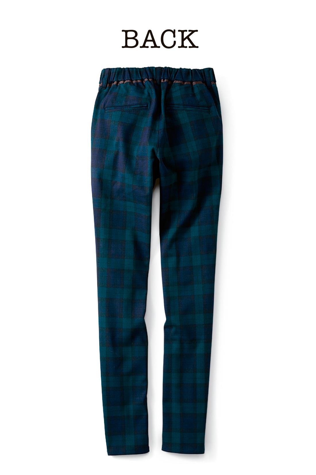 バックスタイルには、玉縁ポケット。品よく、すっきり。 ※お届けするカラーとは異なります。
