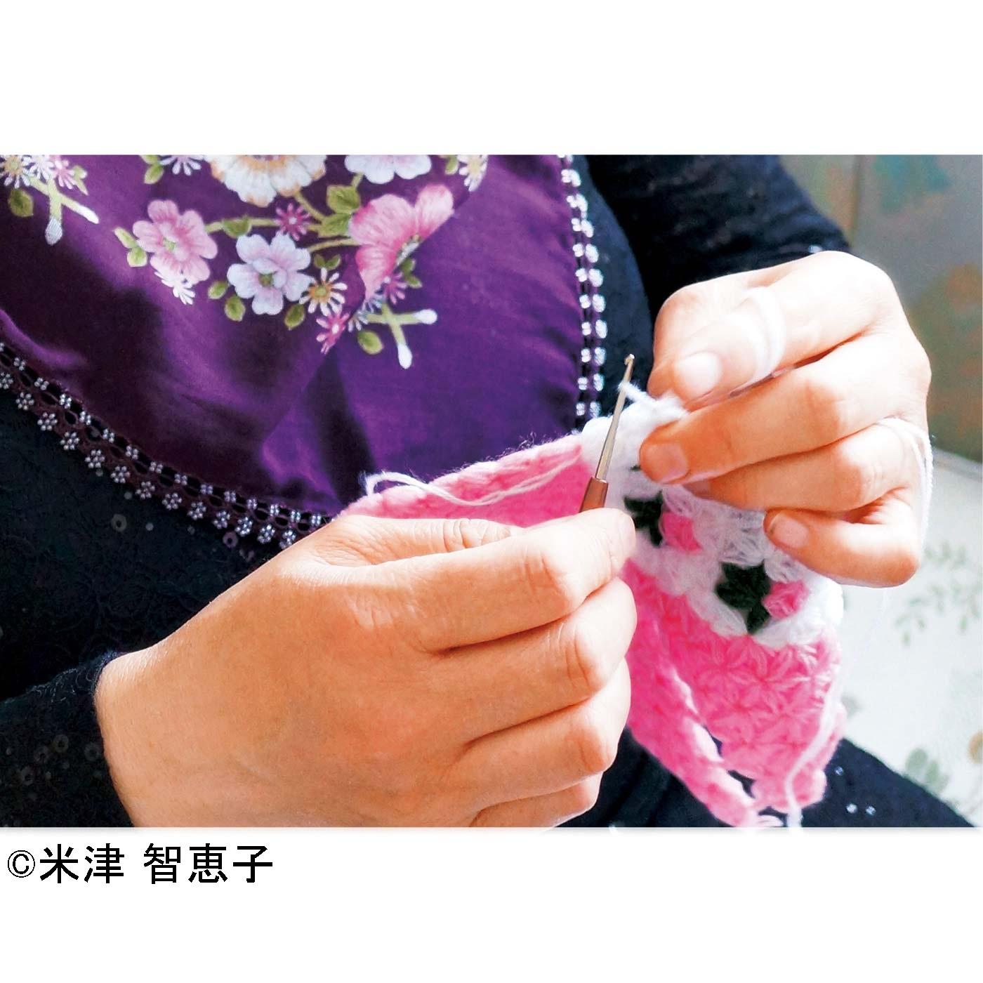 """トルコで生まれた""""リフ編み"""" 毛糸は本場トルコから直輸入!! ほかにはないやわらかさです。 トルコでは手づくりのリフを贈り合います。"""