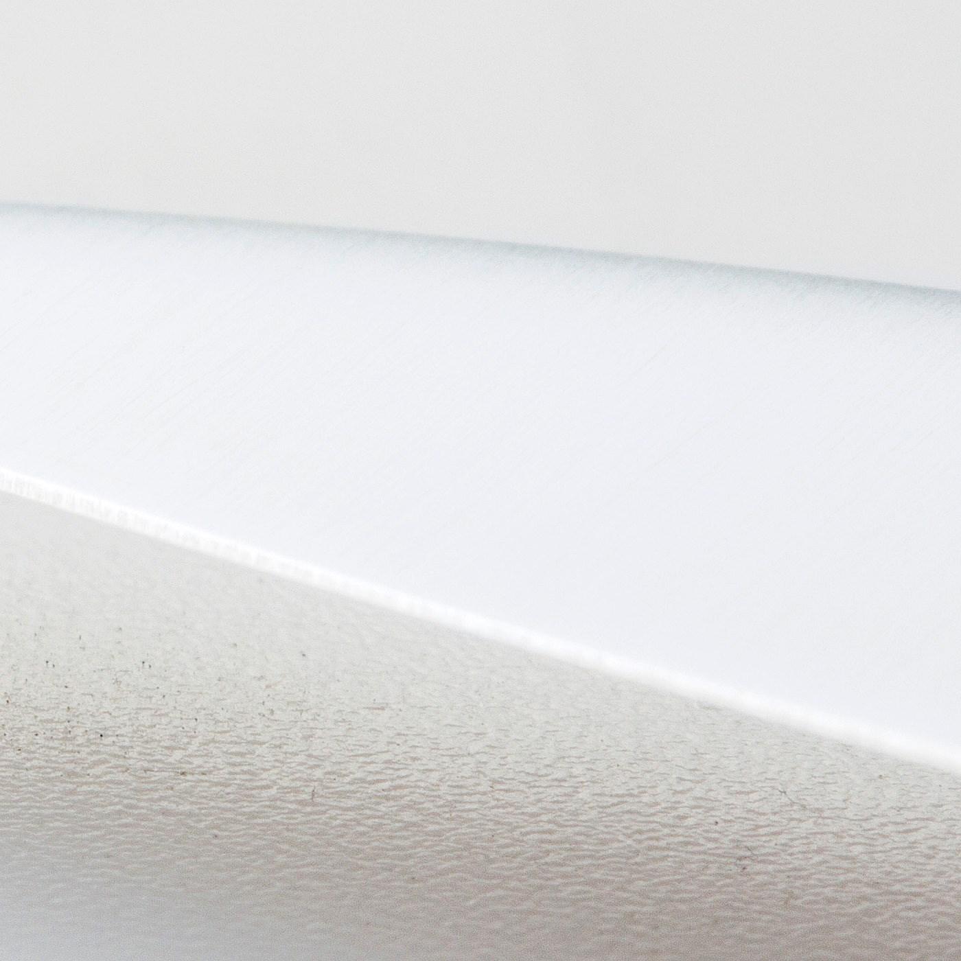 さびにくく左右どちらでも切れるステンレス製の両刃。