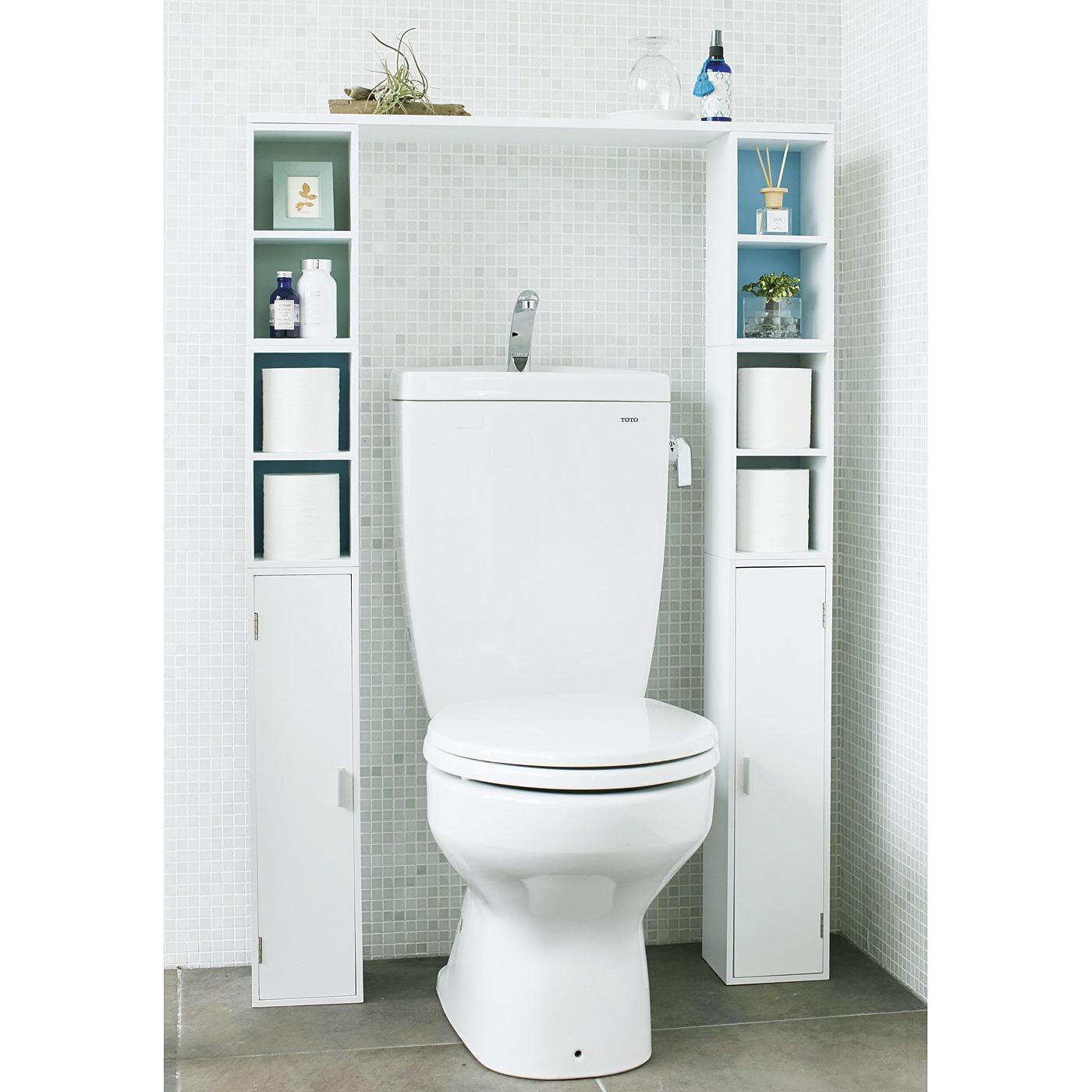 じゃぐち付きのトイレにはトールの上にショートを2個スタッキングして使います。