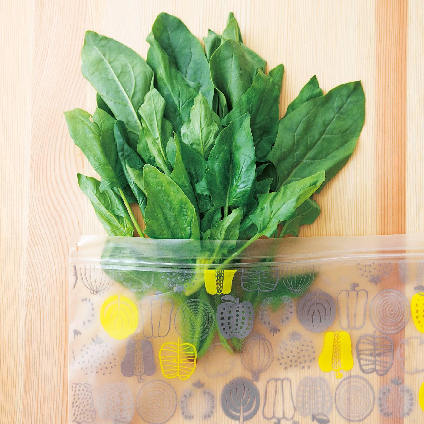 買い置き野菜もシャキッと新鮮!