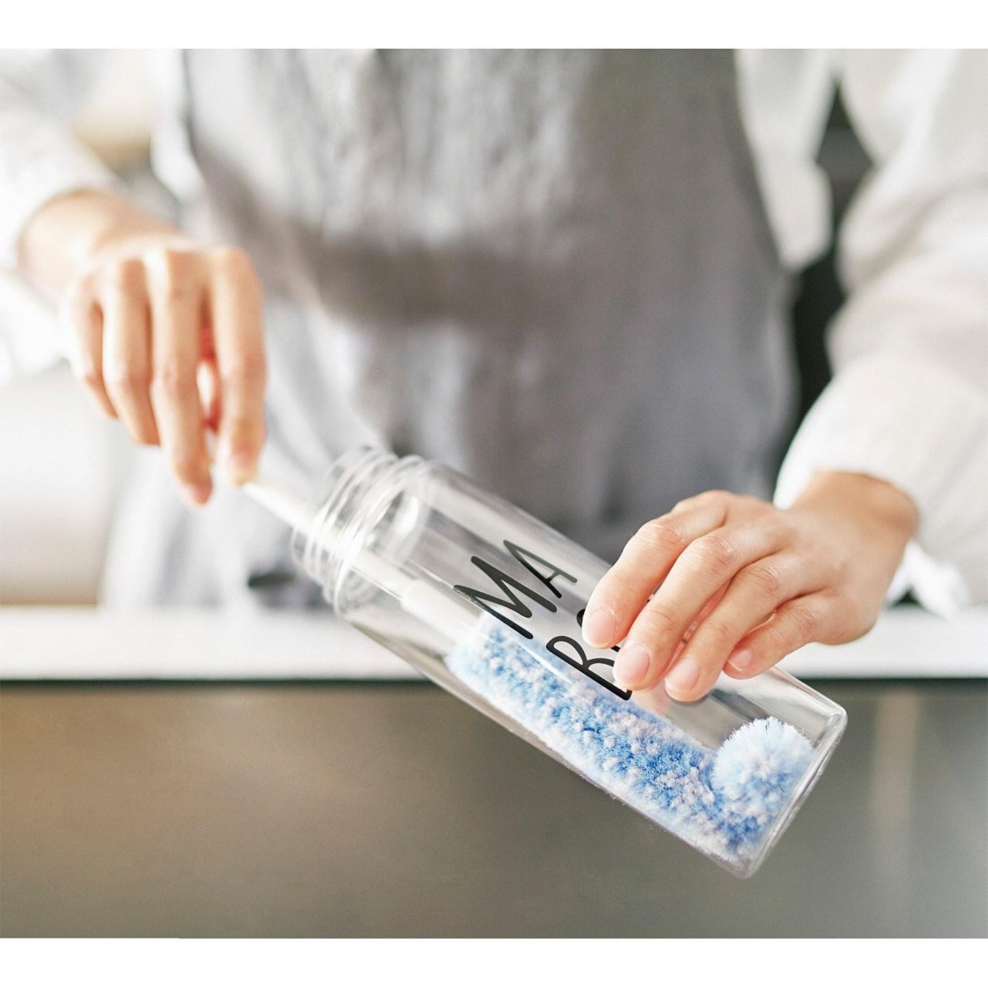 集めてさわやか 細い口にスッと入る ボトル洗いスリムブラシの会