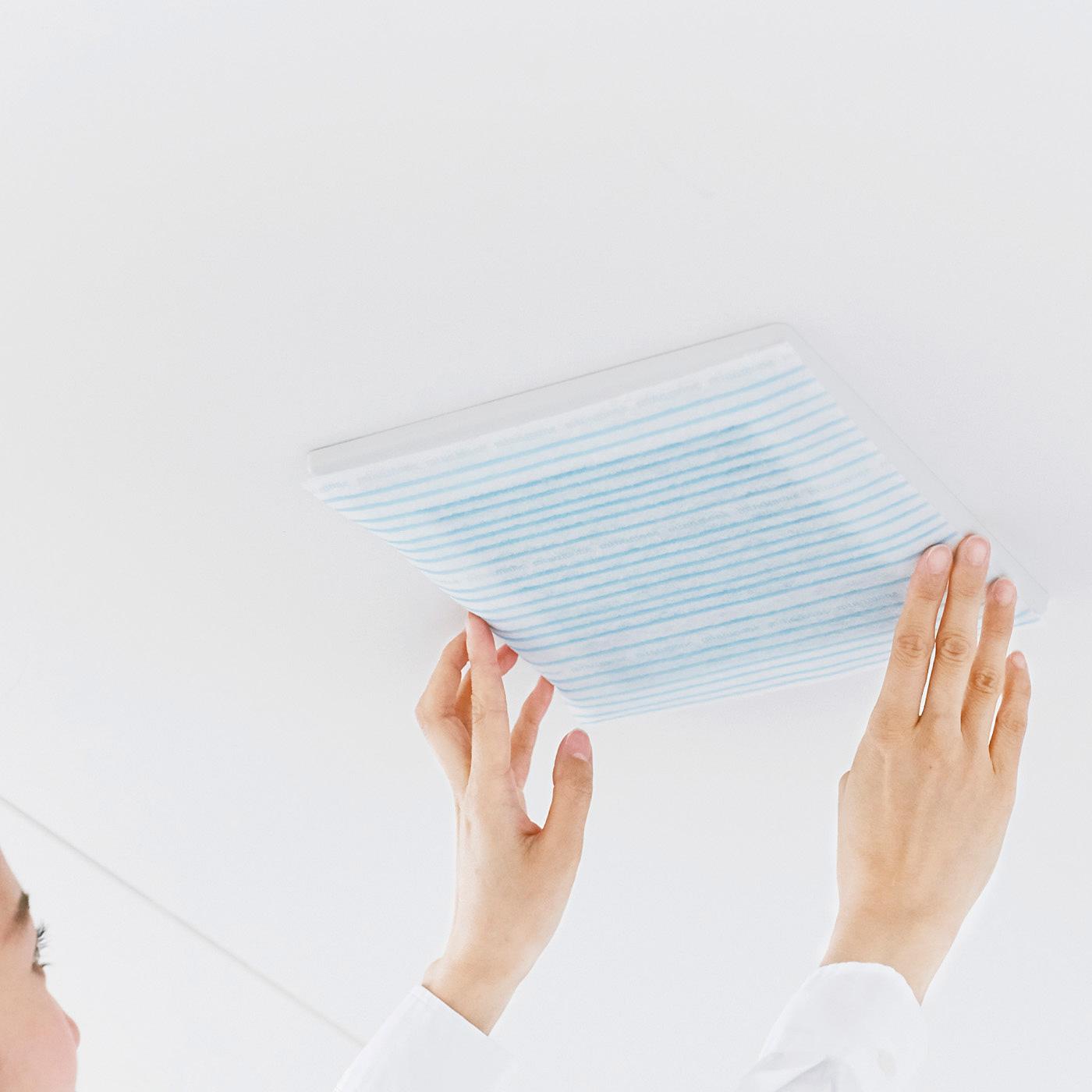 フェリシモ 細かいほこりもキャッチ 貼ればお掃除いらずな換気扇フィルターの会【定期便】