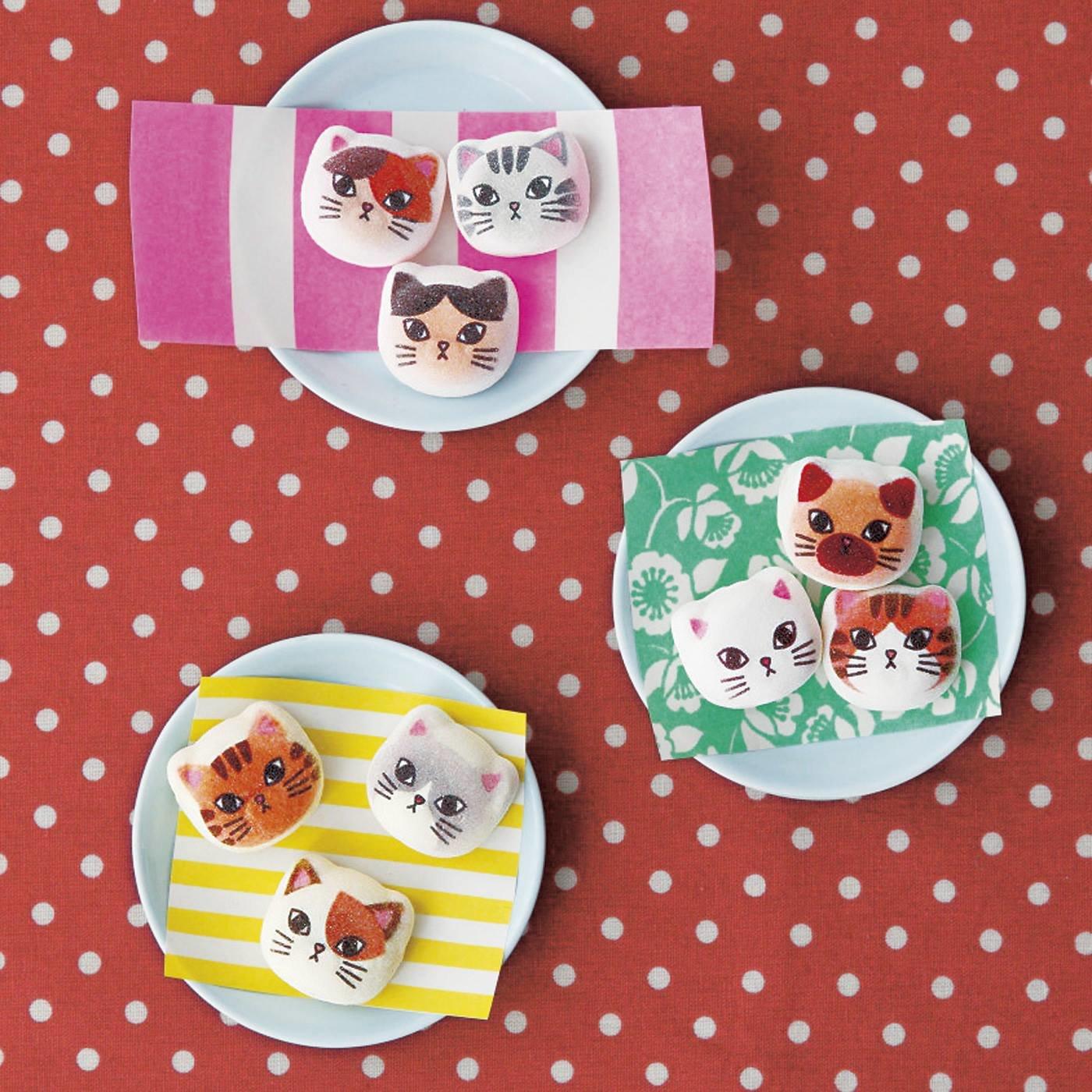 3つの味になった ミニ和風ニャシュマロ〈猫ほうずい〉の会