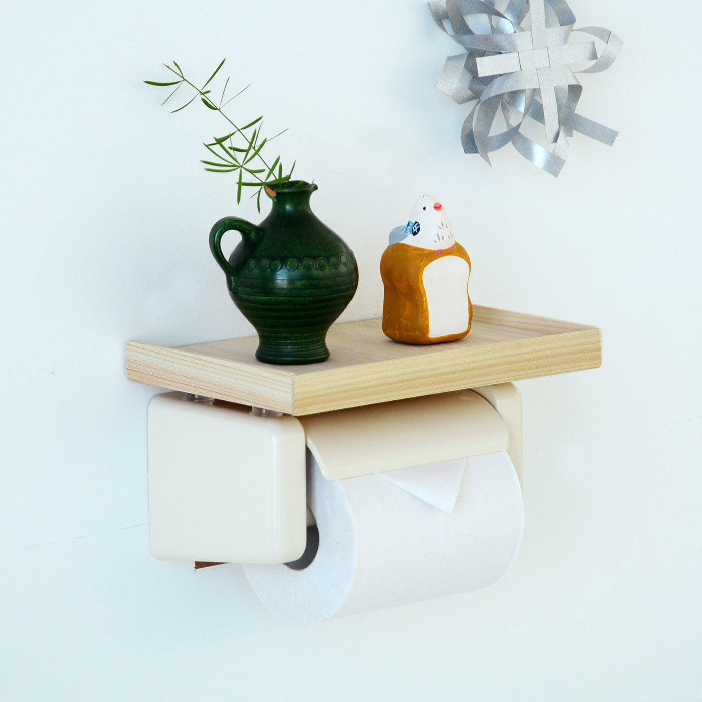 トイレットペーパーホルダーちょい置き棚DIYキット