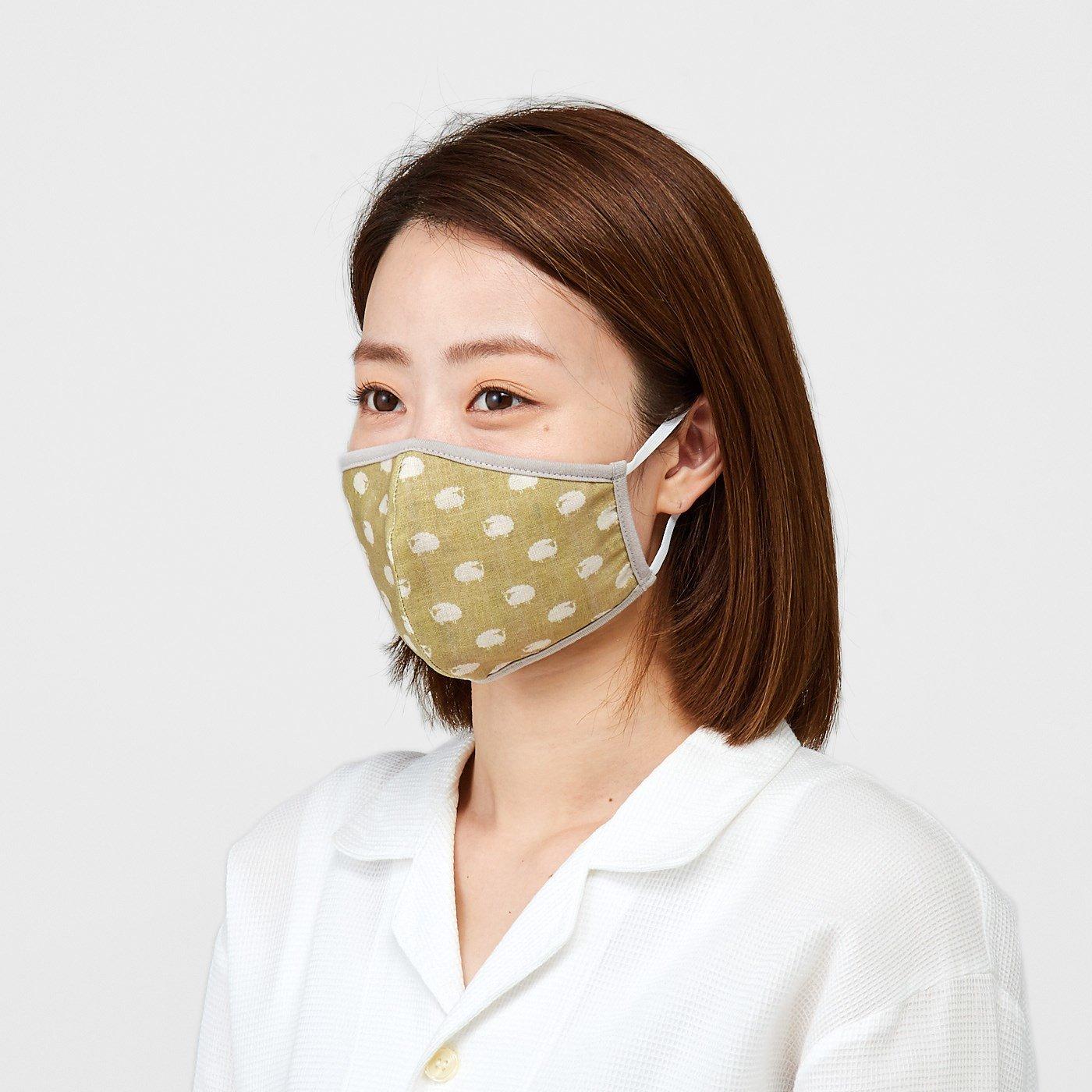 天然素材で積層仕立て シルクと綿の動物マスクの会