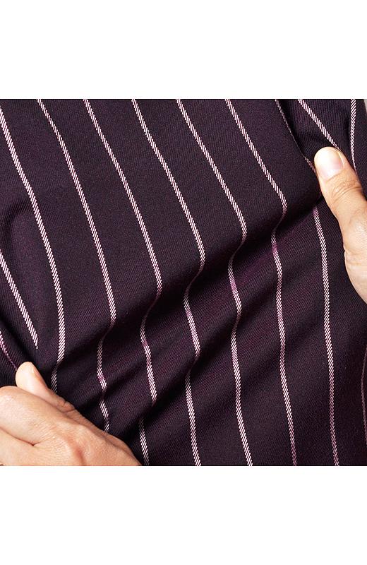 ストレッチのきいた布はく素材で、クセになるはき心地。スマートシルエットなのに自転車もOKな動きやすさです。